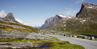 Mountain Road Norway Stock Images