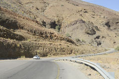Mountain road in Oman Royalty Free Stock Images