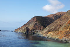 The mountain road on Pacific coast Royalty Free Stock Photo