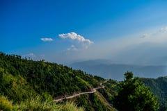 Mountain road in Pakistan stock photo
