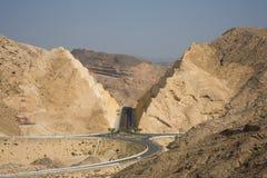Mountain road by Qantab. Oman Stock Photo
