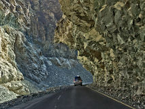 Mountain road among the rocks. Himalayas, Leh, Northern India Royalty Free Stock Photography