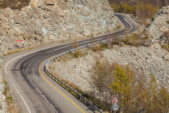 Mountain road. Rocky pass. Dangerous track Royalty Free Stock Photos