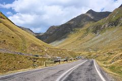 Mountain road in Romania Stock Photography