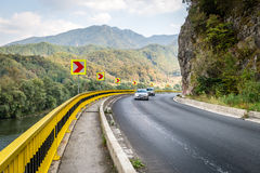 Mountain road in Romania Royalty Free Stock Image