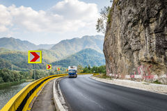 Mountain road in Romania Stock Image