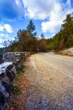 Mountain road in the Romanian Carpathians Royalty Free Stock Image