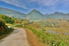 Mountain road. Sa Pa. Vietnam Royalty Free Stock Photo