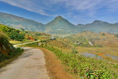 Mountain road. Sa Pa. Vietnam Royalty Free Stock Photo