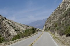 Mountain road Santa Rosa California Royalty Free Stock Photo
