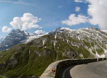 Mountain road. Scenic view at the road in the mountains Royalty Free Stock Image