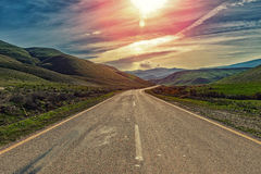 Mountain road. Scenic view of mountain road, Nature landscape Stock Images