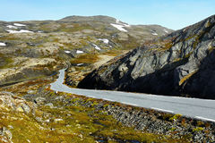 Mountain Road. Scenic winding road leading through the mountains Royalty Free Stock Photo