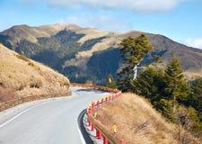 Mountain road. Scenic winding road in Taiwan Royalty Free Stock Image