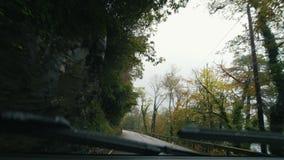 Mountain road in Scotland highland near lake Loh Lamond stock video
