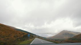 Mountain road in Scotland highland stock video