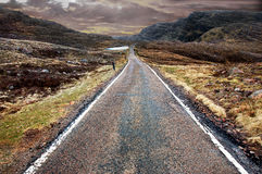 Mountain road, Scottish Highlands Stock Image
