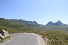 Mountain road sedlo Royalty Free Stock Images