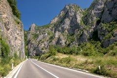 Mountain Road, Serbia. Mountain road near the border with Montenegro, Serbia stock images