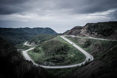 Mountain road serpentine stock photography