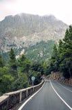 Mountain road in Serra de Tramuntana mountains in Majorca, Spain, Europe Stock Image