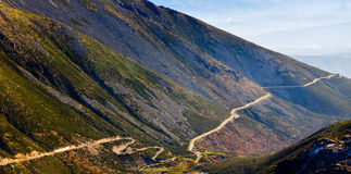 Mountain road from Serra Estrela, Portugal Stock Image