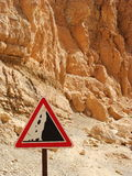 Mountain road sign Royalty Free Stock Photo