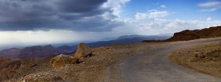Mountain road at Sinai peninsula Royalty Free Stock Photo