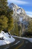 Mountain Road with Snow Stock Photos
