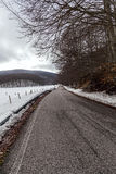 Mountain road with snow Royalty Free Stock Photo