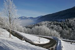 Mountain road in snow ? Stock Photo ? muhammed #4070970
