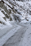 Mountain road snow winter curve Stock Image