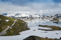 Mountain road 55 in Sognefjellet, Norway. Royalty Free Stock Photography