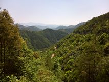 Mountain road in Southern China Stock Photography