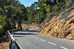 Mountain road. Spain Royalty Free Stock Photo