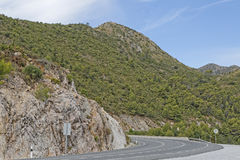 Mountain road spain Royalty Free Stock Photo