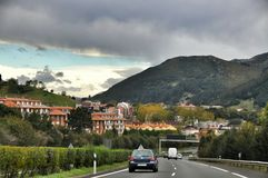 Mountain road. Spain Royalty Free Stock Photography