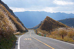 Mountain road with a speed limit Stock Photography