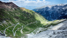 Mountain Road - Stelvio Pass Stock Image