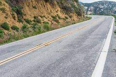 Mountain Road Straightaway Stock Images