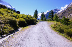 Mountain Road in Swiss Alps stock image