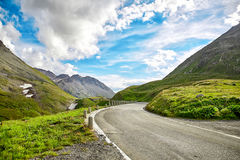Mountain road in Swiss Alps Stock Photo