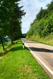 Mountain road in Switzerland. Higher mountain road on Switzerland royalty free stock photos