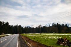 Mountain road in a Tatry mountain in Slovakia royalty free stock photos