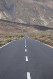 Mountain road on Teide the volcano on Tenerife Stock Photography
