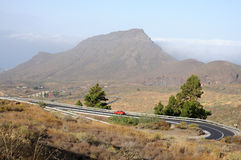 Mountain road on Tenerife Stock Image