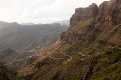 Mountain road at Tenerife Royalty Free Stock Photography