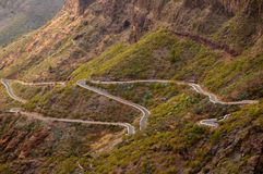 Mountain road at Tenerife Stock Photography