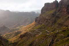 Mountain road at Tenerife Stock Image