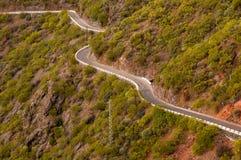 Mountain road at Tenerife Stock Photo